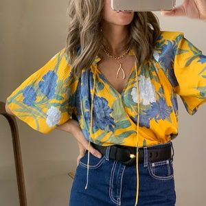 Anthropologie Kroes Floral Blouse Tee